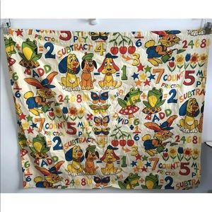 Vintage Children's Curtain & Valence Set